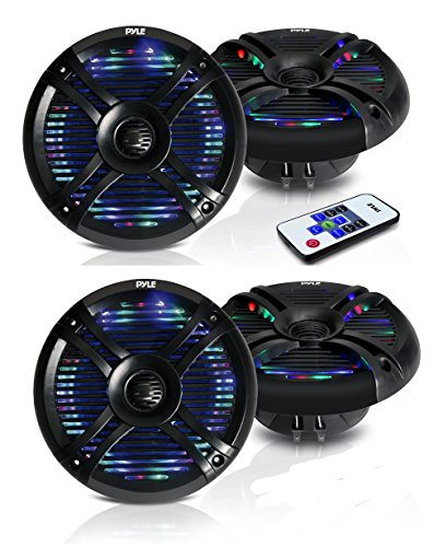 Pyle PLMRX68LEB Marine Light Speakers