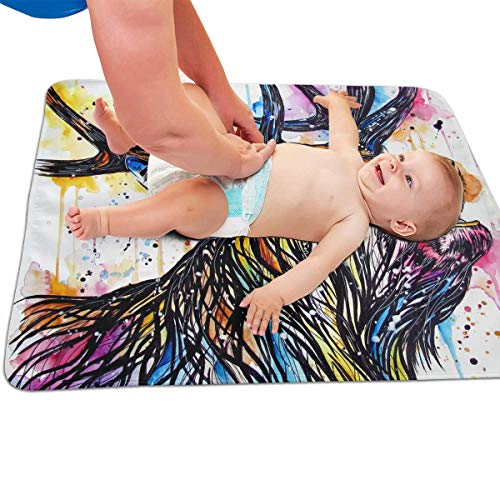 V5DGFJH.B Baby Portable Diaper Changing Pad Colorful Stag Cried Urinary Pad Baby Changing Mat 31.5