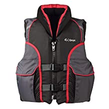 Full Throttle Onyx Youth Select Life Vest, Black/Gray/Red - 50-90-Pounds