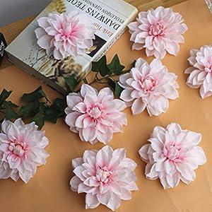 12Cm Peony Flower Head Dahlia Fake Flowers Diy Flower Wall Background 24
