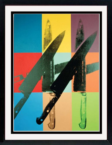 Andy Warhol Knives Custom Framed Art (Andy Warhol Knives)