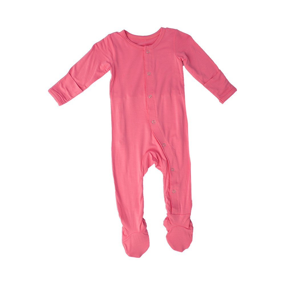 c50ae7f02 Amazon.com  Kozi   Co. Baby Sleeper Newborn Footie Pajamas - Bamboo ...