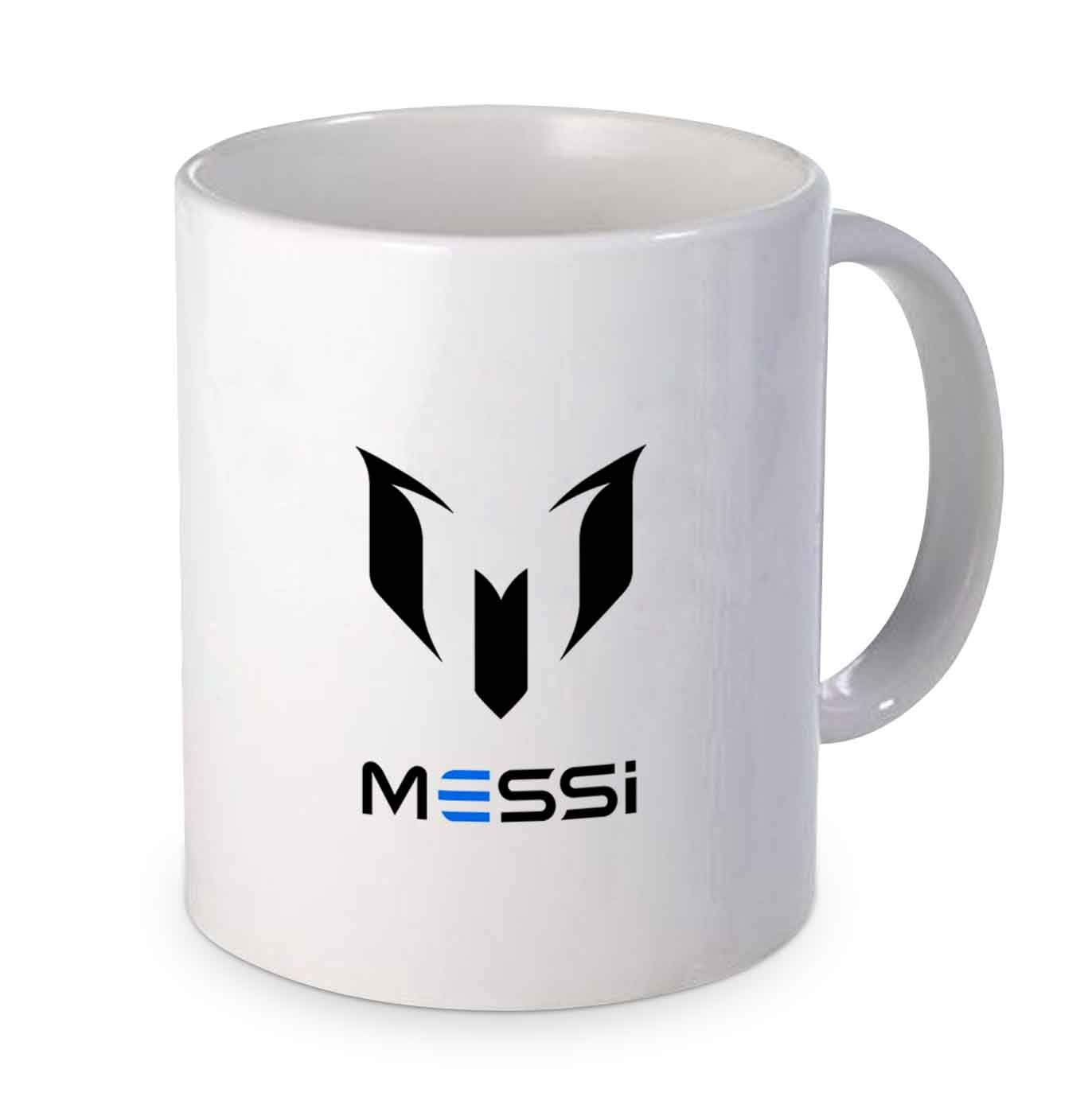 Buy Inklusiv Lionel Messi Logo Black White Ceramic Printed Coffee Mug 330ml Online At Low Prices In India Amazon In
