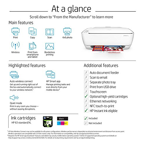 HP DeskJet 3634 Compact All-in-One Wireless Printer with Mobile Printing, HP Instant Ink & Amazon Dash Replenishment ready (K4T93A) by HP (Image #6)
