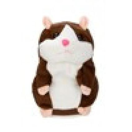 Adorable ratón interesante registro hablar hablando hámster peluche niños juguetes por cinnamou caqui 15*9cm