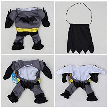 Pet Cat Dog Batman Costume Warm Outfit Clothes Funny Party Fancy DressAsian size : catdog costume for dog  - Germanpascual.Com