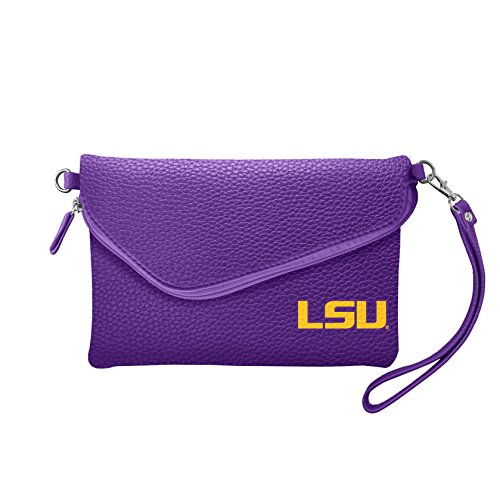 NCAA LSU Tigers Pebble Fold Over Crossbody Purse