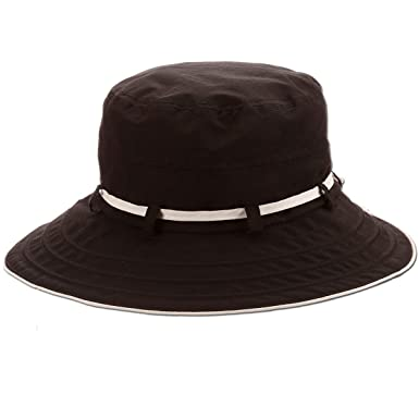 8af9d303e4ffec Amazon.com: Panama Jack Women's Bucket Sun Hat - Packable, Lightweight  Nylon, UPF (SPF) 50+ Sun Protection, 3