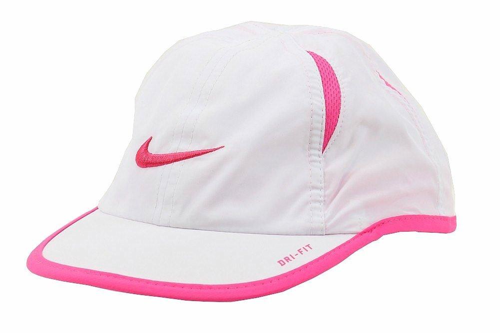 b5c08e19f7c7c5 Galleon - Nike Kids Hat, Dri-FIT Adjustable Cap (4/6X, White/Pink Pow)