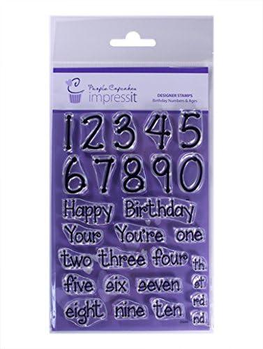 Gaufrage Pour Cupcake et Gâteau timbres pâte de sucre personnaliser avec nom et date