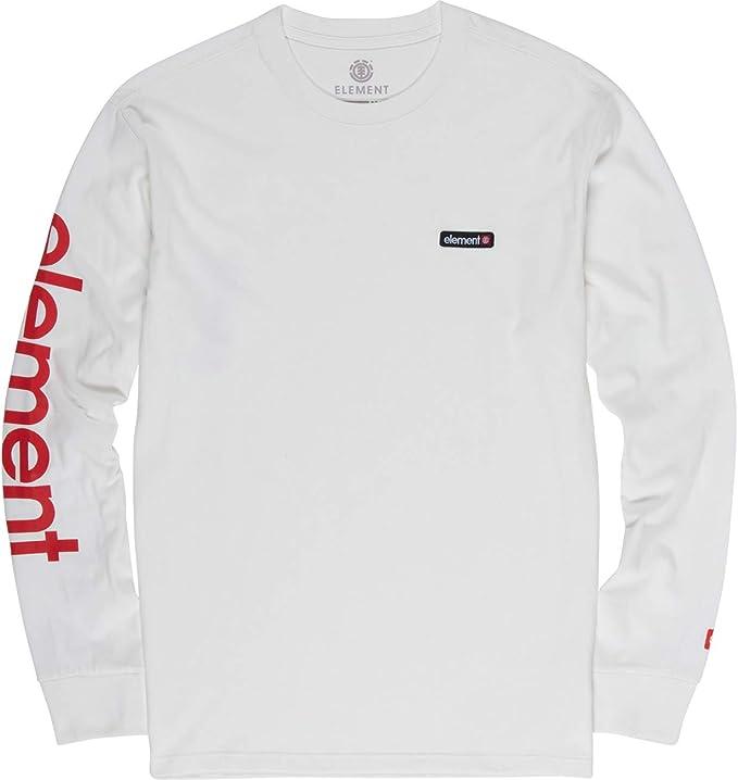 Element - Camiseta de Manga Larga - Hombre - M - Blanco: Amazon.es: Ropa y accesorios