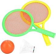 Kids Badminton Racket, Sturdy Racquet Toddlers Baby Tennis Racquet Toy Outdoor Indoor Children Educational Spo