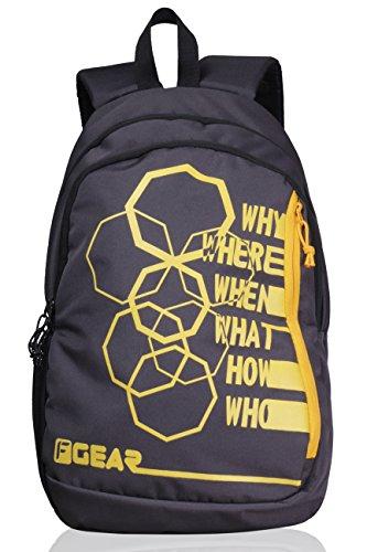 F Gear Diamond Octa 25 Liter Backpack  Grey Yellow