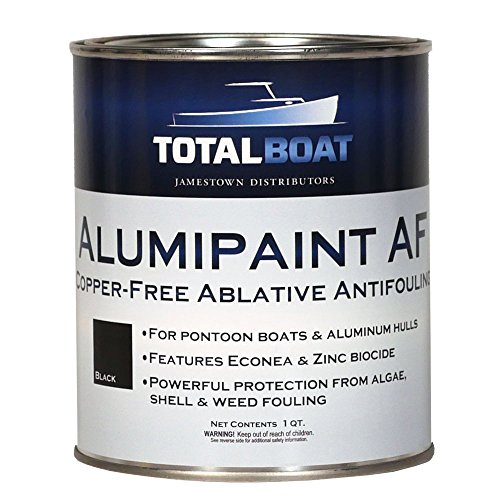 TotalBoat Alumipaint AF Aluminum and Pontoon Boat Bottom Paint (Black, Quart) (Best Paint To Use On Aluminum Boat)