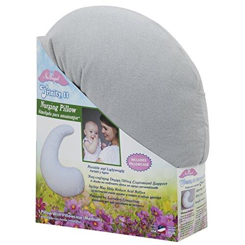 NuAngel Trinity II Nursing Pillow with Pillowcase, Gray