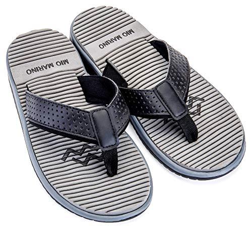 ae09bdaf4bdc Mio Marino Beach Flip Flops For Men - Comfortable Flip Flop Sandals -  Waterproof Bag