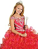 Pinkmerry Princess Flower Girl's Pageant Dresses with Beading Crystal