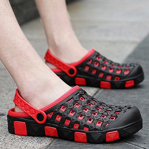 Xing Lin Flip Flop De La Playa Verano Hombres Zapatillas De Uso Doble Cabezal Semi-Remolque Sandalias Cool Agujero Antideslizante Shoes Sandalias Casual Masculino Arrastre 2015 red