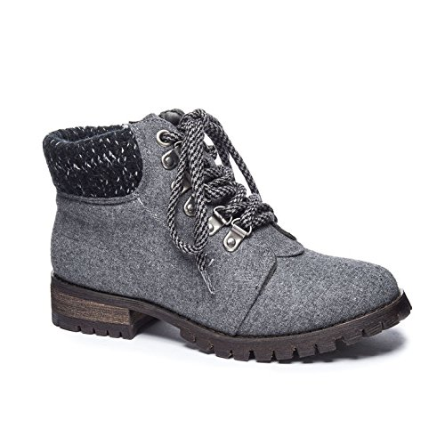 Dirty Laundry by Chinese Laundry Women's Treble Boot, Dark Grey Flannel,  8 M US
