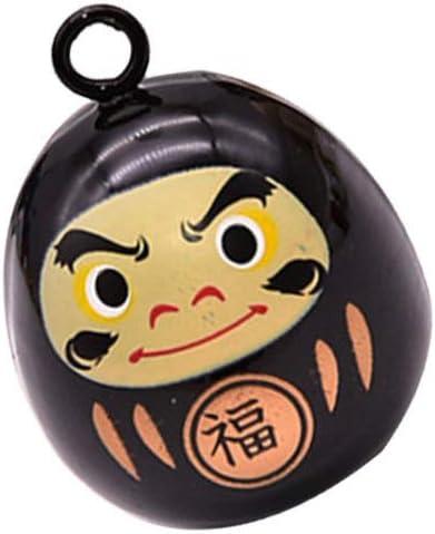 Bronze Healifty Style Japonais Cloche Daruma Cloche D/écorative Pendentifs pour Bricolage Artisanat Sac Sac /à Dos Sac /à Dos Suspendu Charme