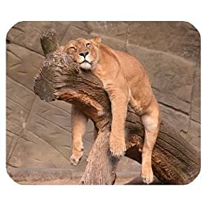 Generic Personalized Lazy Female Lion for Rectangle Mouse Pad