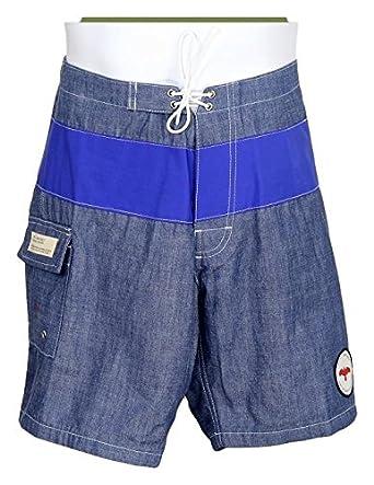 097580939e Apolis for J Crew Men's Chambray Men's Swim Trunks Size 36 Inch Blue New |  Amazon.com