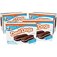 Drake's Devil Dogs, 4 Boxes, 32 Individually Wrapped Devils Food Cakes