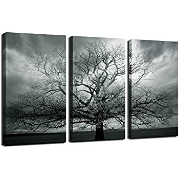 Sea charm winter large tree photography printabstract canvas artworkstretched and framedlandscape canvas wall arteach panel 16x32inches wall picture