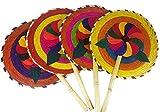 13'' Palm Hand Fans, 4 Pack Palm Leaf Hand Fans, Bundle Decorative Handfan, Wicker Floral Fan, Fiesta Party, Floral Handfan, Handmade Palm Fans, Perfect Wedding Favor Fans,