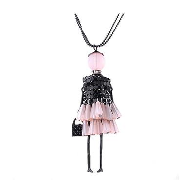 Glitz de para fiesta romántico muñeca cuello colgante collar ...