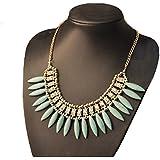 Aaishwarya Bohemian Style Fashion Turquoise Beaded Bib Necklace For Women & Girls