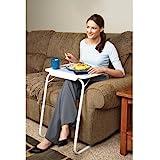 Table Mate, tavolino con vassoio regolabile e pieghevole, per mangiare guardando la TV o usare comodamente il pc dal divano o a letto