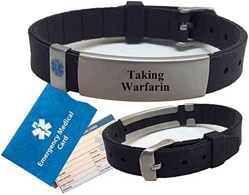 TAKING WARFARIN Advisor Medical ID Bracelet