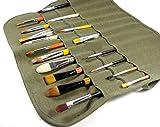 Flyshine Canvas Artist Brush Holder Rollup