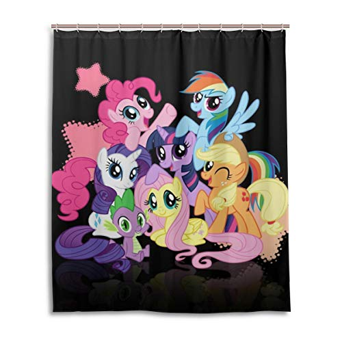 (HUHAOSC My Little Pony Bath Shower Curtain Waterproof Fabric Shower Curtains 60x72 Inch )