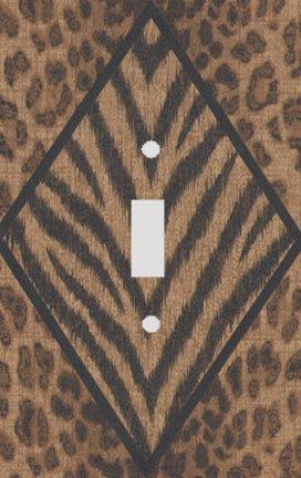 Safari Diamond Leopard Skin Print Switchplate - Switch Plate ()