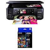 Epson XP-640 Expression Premium Wireless Color Photo Printer with Scanner & Copier with Epson 410XL Black & Standard Photo Black and C/M/Y Color Ink Cartridges, Combo 5 Pack