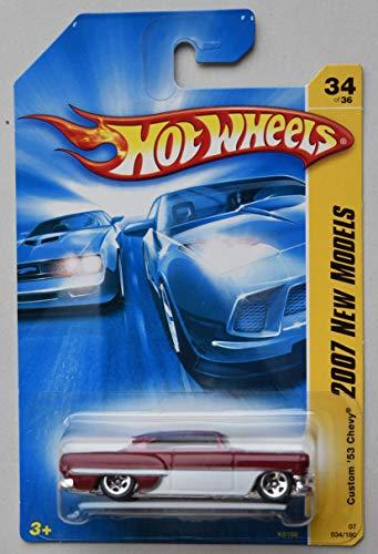 Hot Wheels 2007 New Models 34/36, RED/White Custom '53 Chevy 34/180