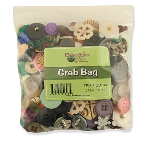 Buttons Galore Great Grab Bag with Craft and Sewing Buttons, 12-Ounce - Large Brad Assortment
