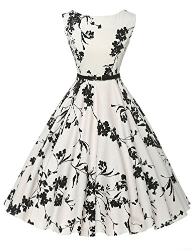 (Floral Pin-Up Wiggle Dress for Women Crew Neck Size 3X F-11)