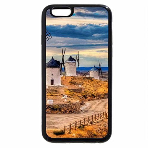 iPhone 6S / iPhone 6 Case (Black) castle and beautiful windmills in toledo spain hdr