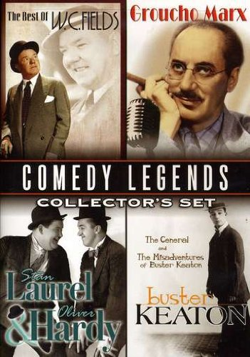 Comedy Legends Collector's Set: Buster Keaton: The Misadventures of Buster Keaton & The General; W.C. Fields: Golf Specialist, Dentist & Fatal Glass of Beer;  Laurel & Hardy: Lucky Dog, - Glass Store Atlanta