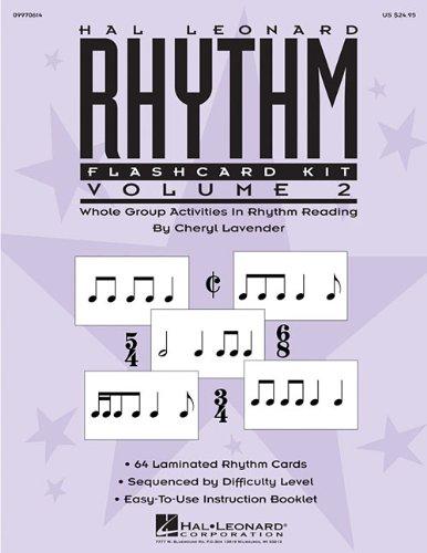 Hal Leonard Rhythm Flashcard Kit, Volume 2: Whole Group Activities in Rhythm -
