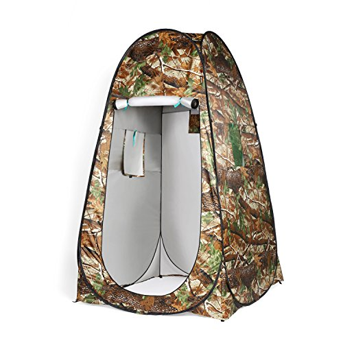 GiODLCE Shower Tent Beach Fishing Shower Outdoor Camping Toilet Tent,Changing Room Shower Tent with Carrying Bag (Camouflage)