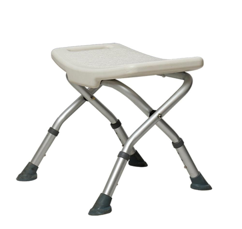 LUCKYYAN Medical YC5100 Collapsible Aluminum Shower Chair Bath Stool Transfer Bench Seat, SPA Bathroom Bathtub Chair No-slip Adjustable 3 Height (Normal)