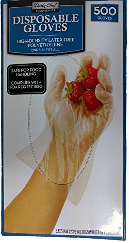 Daily Chef Disposable Gloves Count