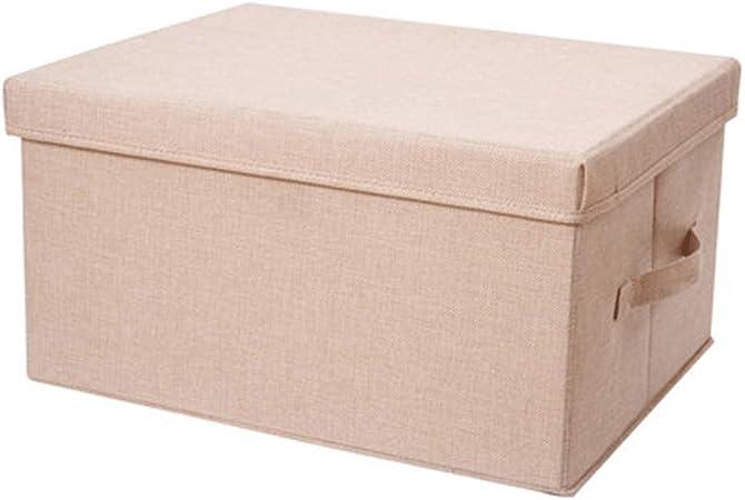 Cajas de almacenamiento, caja de almacenamiento plegable, de algodón y lino, caja de almacenamiento de ropa de tela, caja de almacenamiento para el hogar moderno Size 3: Amazon.es: Hogar