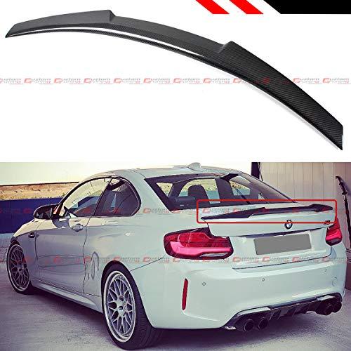 Cuztom Tuning Fits for 2014-2020 BMW 2 Series F22 M235i M240i F87 M2 Carbon Fiber M4 V Style Duckbill Highkick Trunk Spoiler Wing