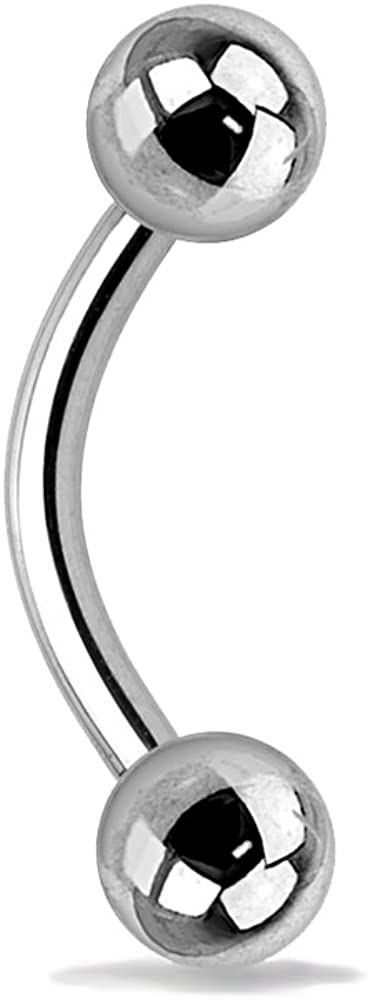 Dynamique Internally Threaded Grade 23 SOLIT Titanium Curved Barbell/Eyebrow Ring