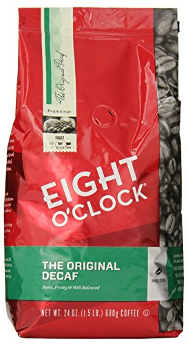 Eight O'Clock Whole Bean Coffee, The Original Decaf, 24 Ounce